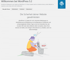 WordPress 5.2 Update